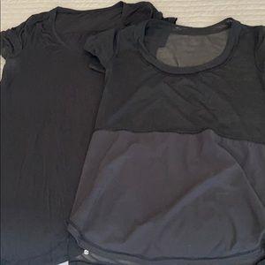 Two lulu black shirts